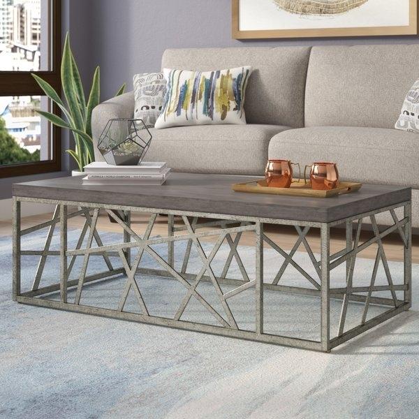 "48 In Square Coffee Table | Wayfair Regarding Chevron 48"" Coffee Tables (Photo 1 of 11)"