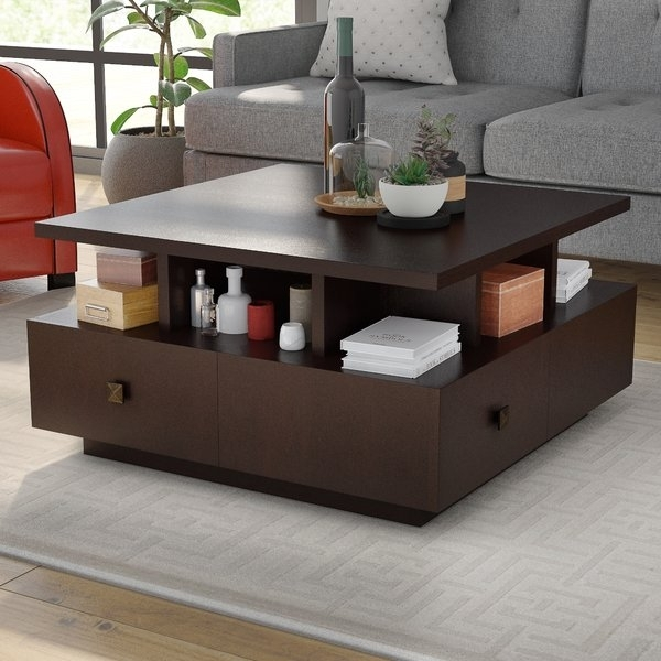 "48X48 Square Coffee Table | Wayfair With Chevron 48"" Coffee Tables (Photo 8 of 11)"