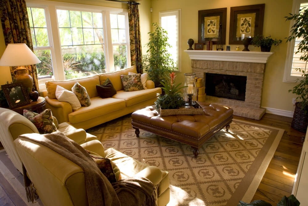 50 Beautiful Living Rooms With Ottoman Coffee Tables Inside Button Tufted Coffee Tables (View 15 of 40)