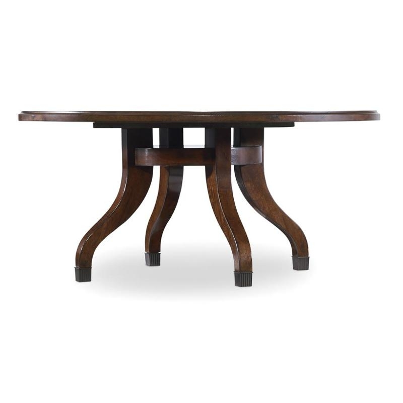 5183 80111 Hooker Furniture Palisade Round Cocktail Table Pertaining To Shelter Cocktail Tables (Image 2 of 40)