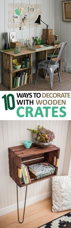 52 Best Repurposed Wooden Crates Images On Pinterest | Wooden Crates Regarding Corrugated White Wash Barbox Coffee Tables (Image 4 of 40)
