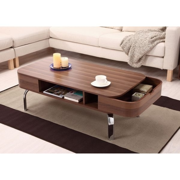 8 Furniture Of America Lawson Modern Walnut 2 Drawer Coffee Table With Walnut Finish 6 Drawer Coffee Tables (Image 1 of 40)