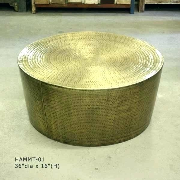 88+ Brass Drum Side Table – Coffee Tables 98, Wood Drum Side Table Within Darbuka Brass Coffee Tables (Image 4 of 40)