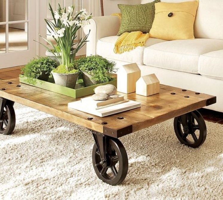 9 Coffee Table Ideas | Woodz With Regard To Natural Wheel Coffee Tables (Image 1 of 40)