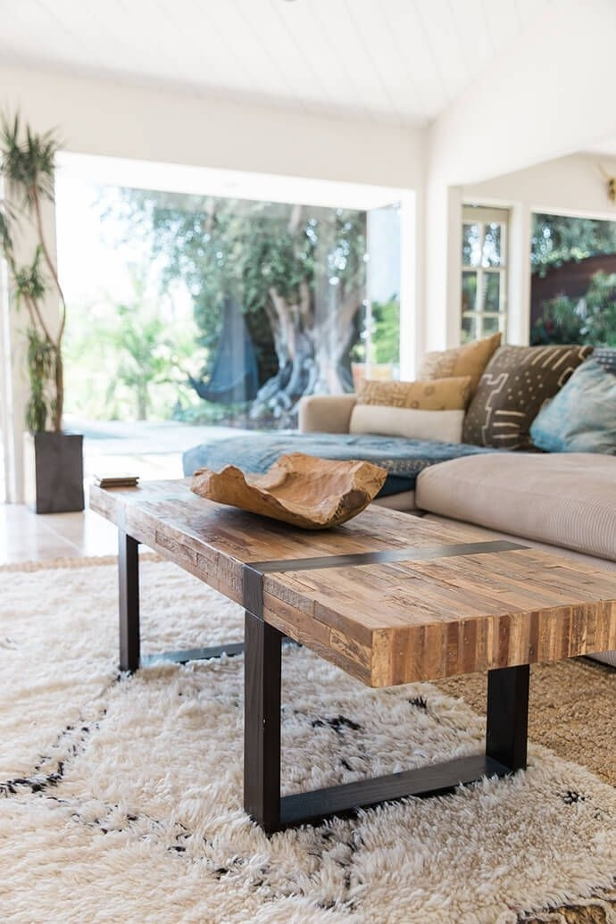 A Serene Bohemian Bungalow | Interiors / Living | Pinterest | Rustic Regarding Modern Rustic Coffee Tables (View 14 of 40)