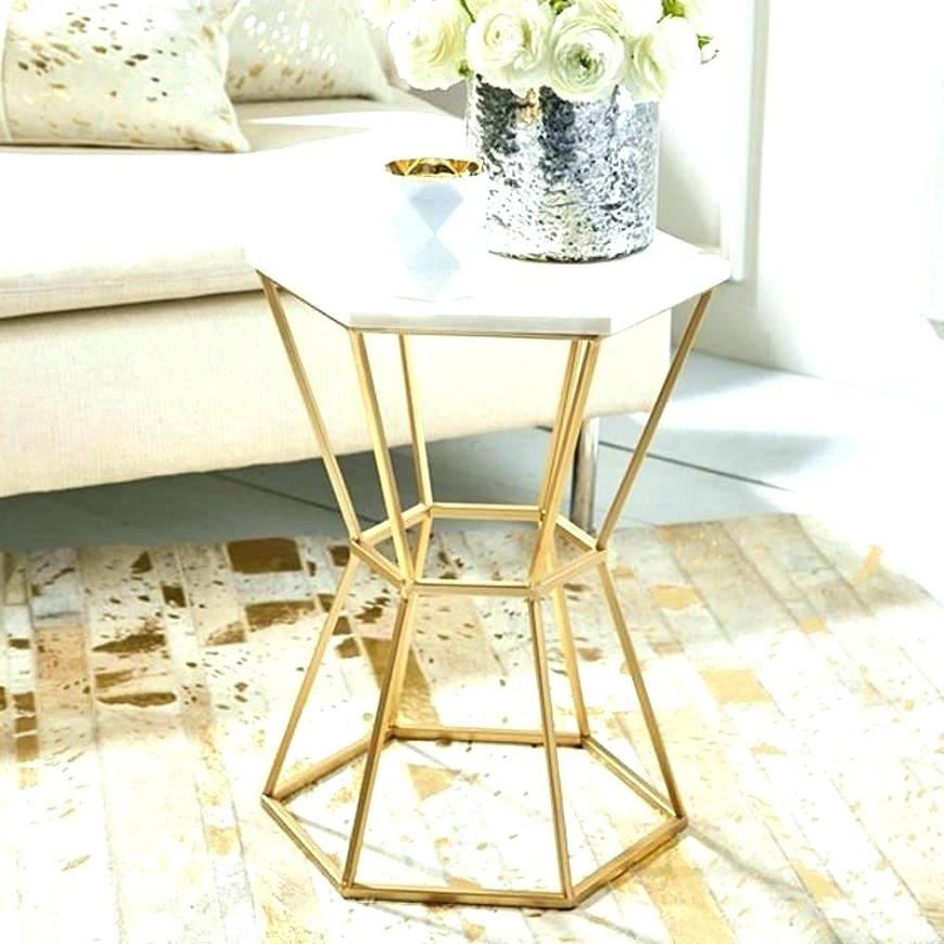 A White Marble And Brass Coffee Table From The Directional Furniture For Smart Round Marble Brass Coffee Tables (Image 3 of 40)