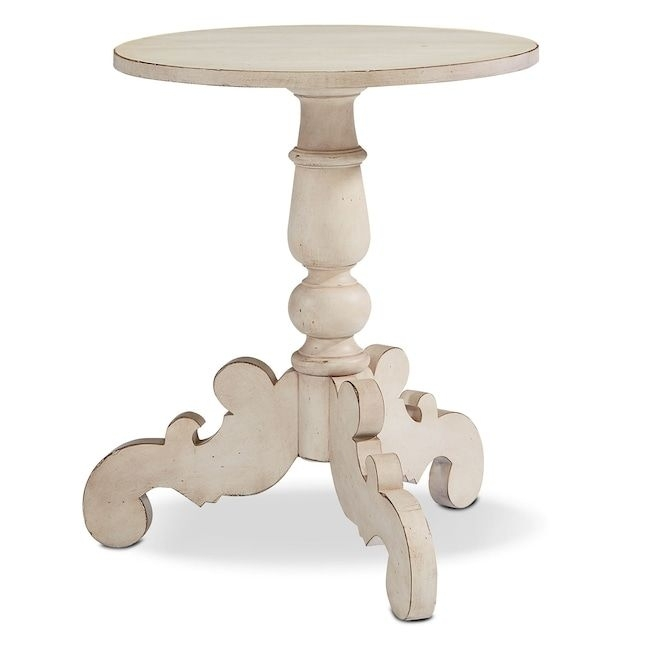 Accent And Occasional Furniture – French Inspired Tripod Hall Table Inside Magnolia Home Scallop Antique White Cocktail Tables (Image 1 of 40)