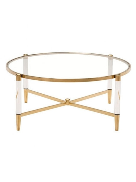 Accent Table | Modern Furniture • Brickell Collection Within Acrylic & Brushed Brass Coffee Tables (Image 2 of 40)