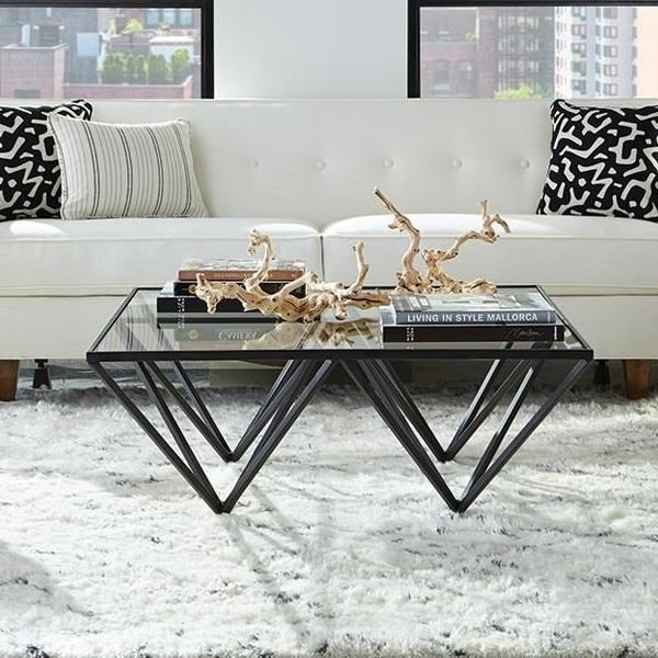 Accents Geometric Cocktail Table | Belfort Furniture | Cocktail Regarding Potomac Adjustable Coffee Tables (View 9 of 40)