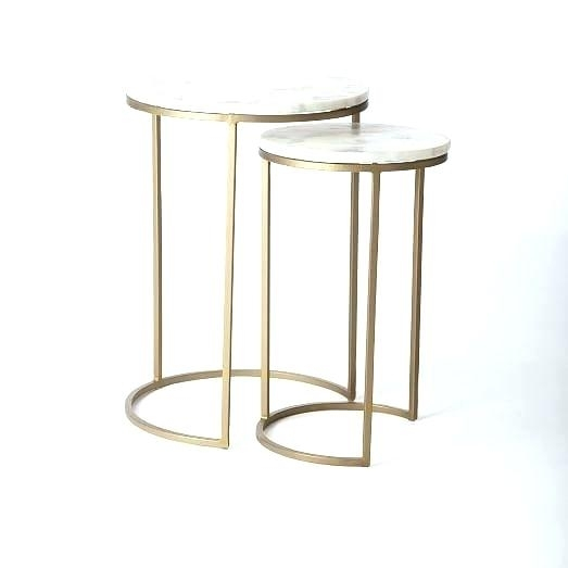 Acrylic Brass Coffee Table – Cimcit (Image 3 of 40)