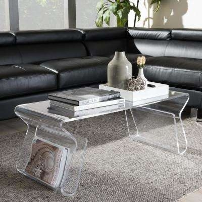 Acrylic – Coffee Table – Mid Century Modern – Coffee Tables – Accent With Regard To Modern Acrylic Coffee Tables (Photo 23 of 40)