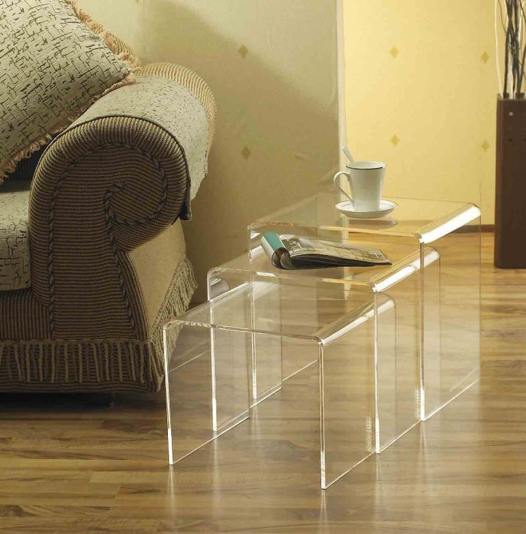 Acrylic Coffee Table With Shelf — Smart Architechtures : How To With Regard To Stately Acrylic Coffee Tables (View 5 of 40)
