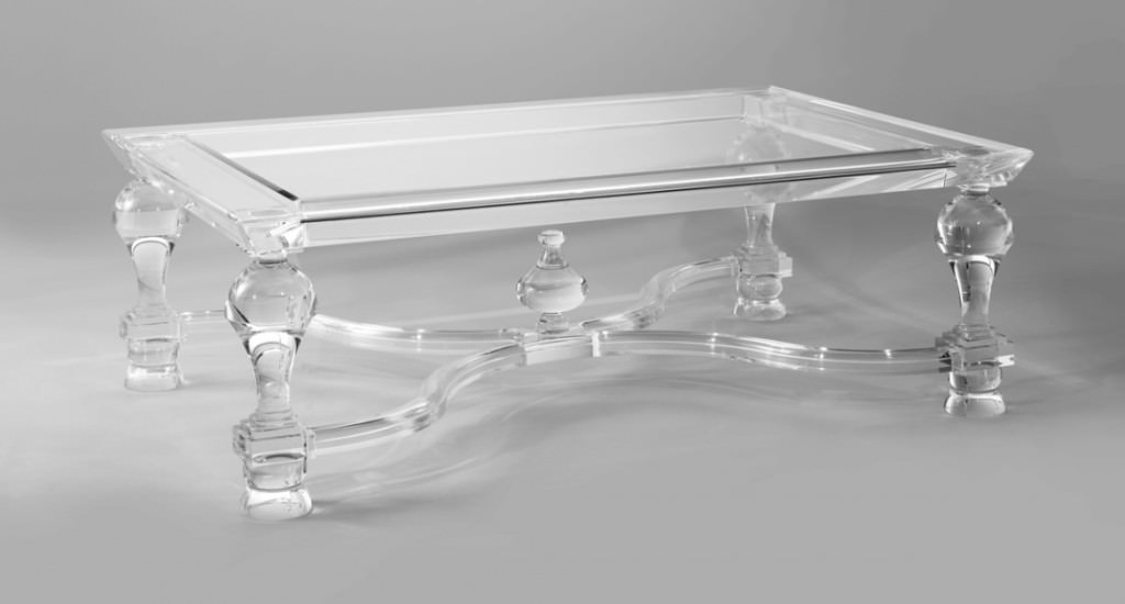 Acrylic Coffee Table With Shelf — Smart Architechtures : How To Within Stately Acrylic Coffee Tables (View 1 of 40)