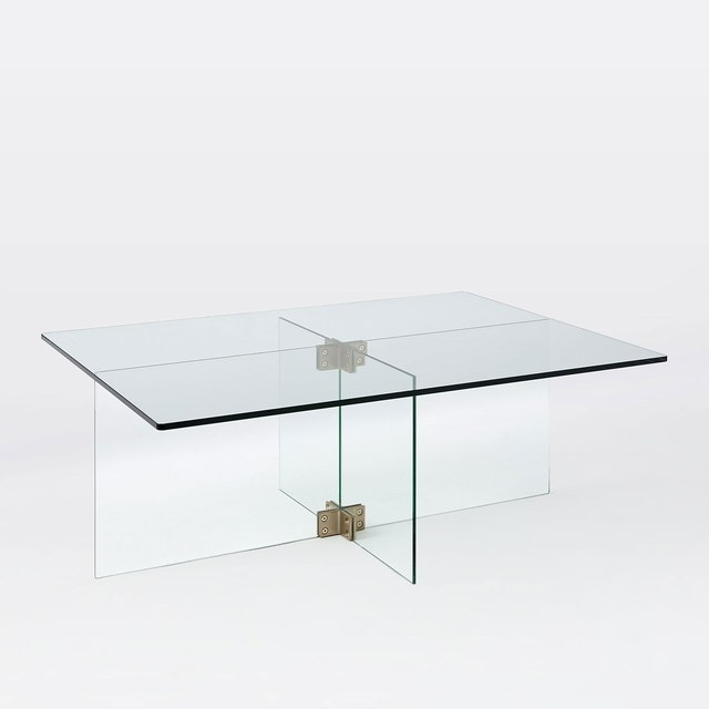 Acrylic Furniture Is The Answer To A Clutter Free Small Room Photos For Acrylic Glass And Brass Coffee Tables (View 33 of 40)