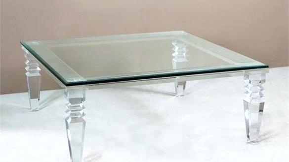 Acrylic Glass Coffee Table – Twomenandatruck (Image 6 of 40)