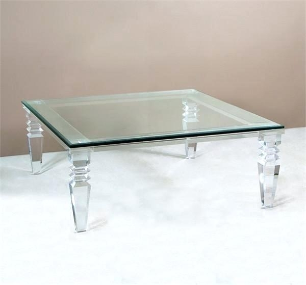 Acrylic Lucite Coffee Table – Mayasaravia (Image 4 of 40)