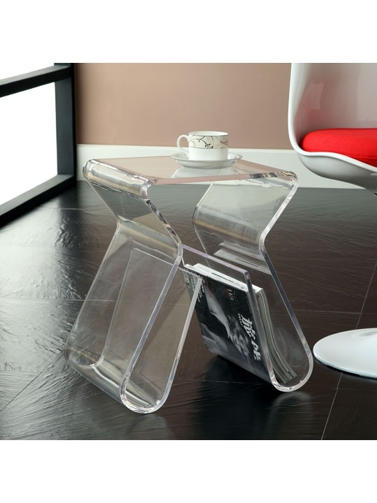 Acrylic Side Table | Brickell Collection • Modern Furniture With Modern Acrylic Coffee Tables (Image 3 of 40)