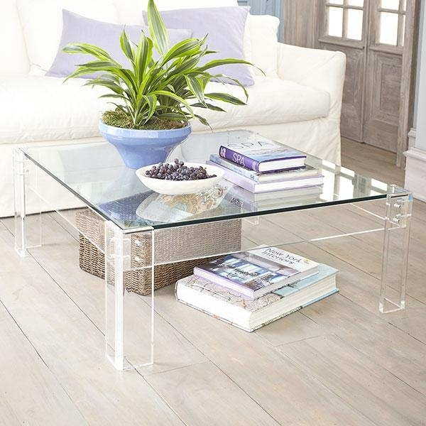 Acrylic Table With Glass – Coffee Table – Wisteria Intended For Modern Acrylic Coffee Tables (View 16 of 40)