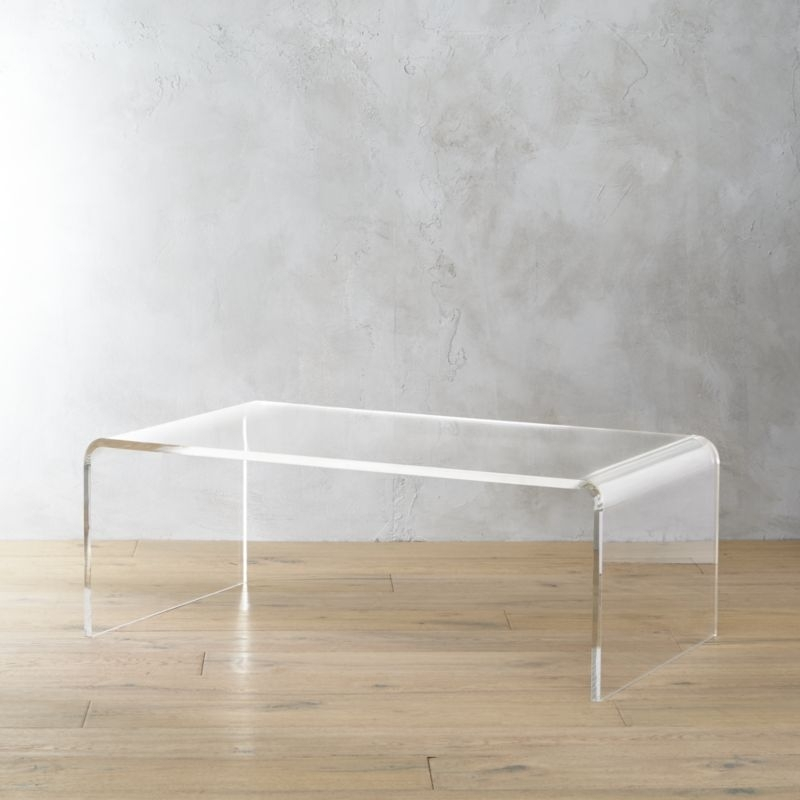 Acrylic Tables | Cb2 Pertaining To Peekaboo Acrylic Coffee Tables (Image 6 of 40)