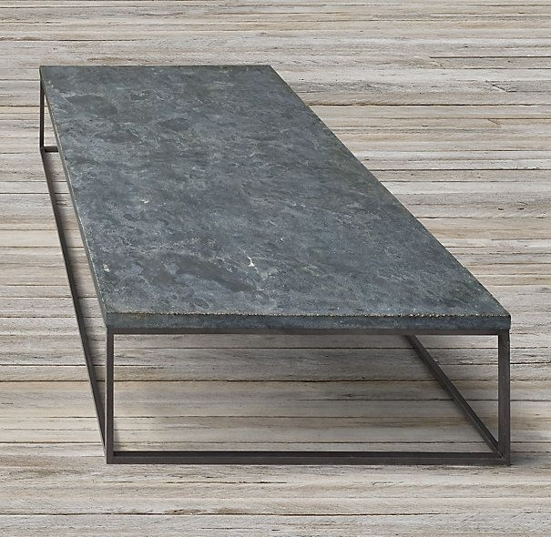 Add Bluestone To Top Of Metal Framed Table / Rh $$$ Delphine With Lassen Square Lift Top Cocktail Tables (View 16 of 40)