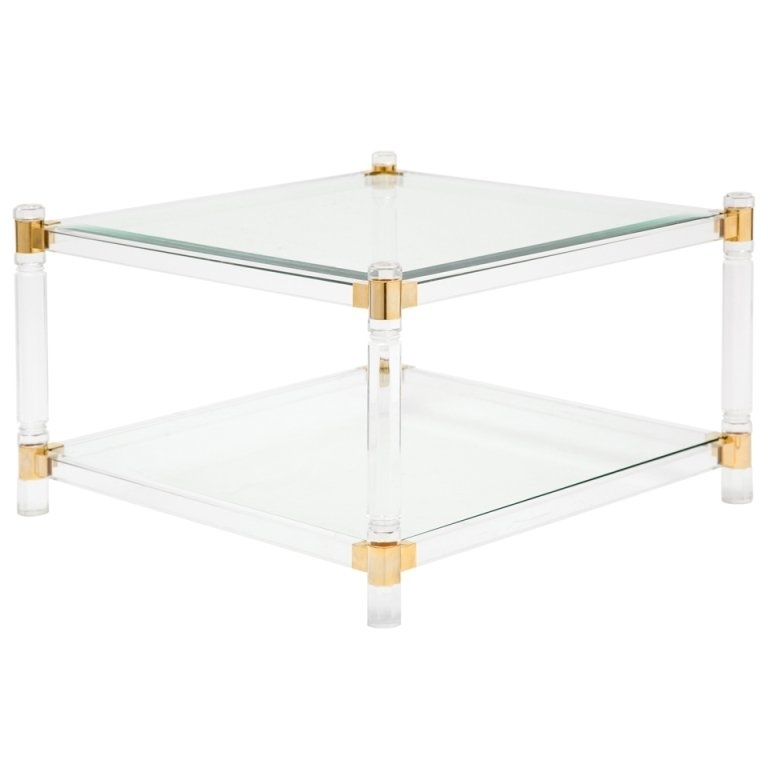Acrylic Coffee Table Top: 40+ Acrylic Glass And Brass Coffee Tables
