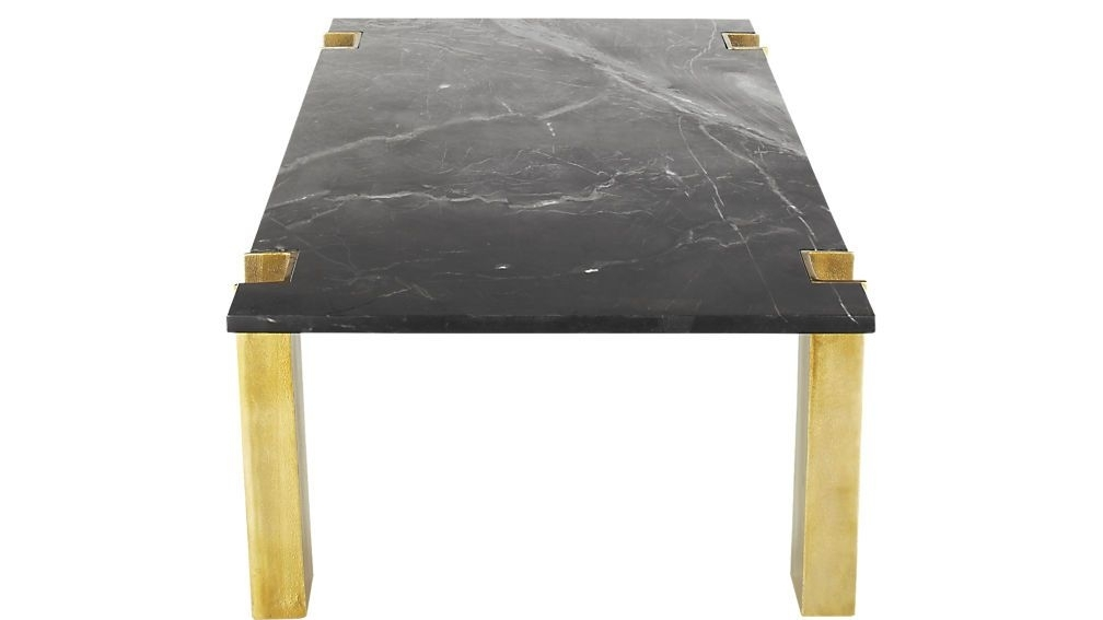 Alcide Black Marble Coffee Table | Black Marble Coffee Table Intended For Alcide Rectangular Marble Coffee Tables (View 28 of 40)