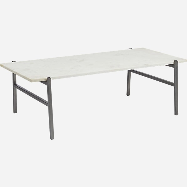 Alcide Rectangular Marble Coffee Table Reviews Cb2 Exclusive Cb2 Regarding Alcide Rectangular Marble Coffee Tables (View 8 of 40)