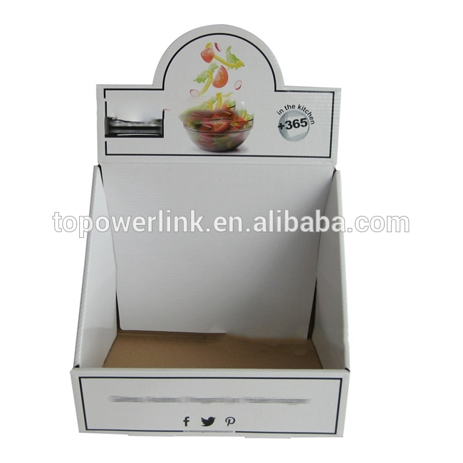 Alibaba Supplier Cardboard Paper Printed Corrugated Retail Counter Regarding Corrugated White Wash Barbox Coffee Tables (View 15 of 40)