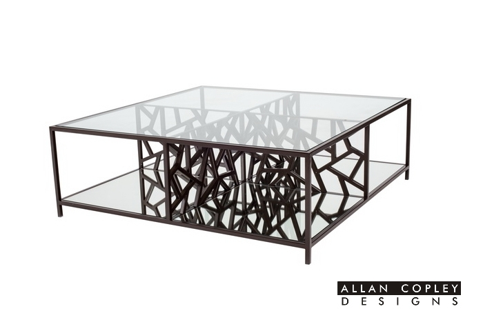 Allan Copley Designs Cracked Ice Cocktail Table Pertaining To Allen Cocktail Tables (View 29 of 40)