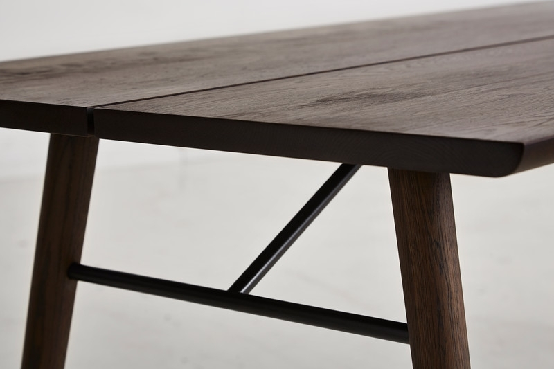 Alley 205 Dining Table, Smoked Oak/smoked Oak – Woud A/s Regarding Smoked Oak Coffee Tables (Image 1 of 40)