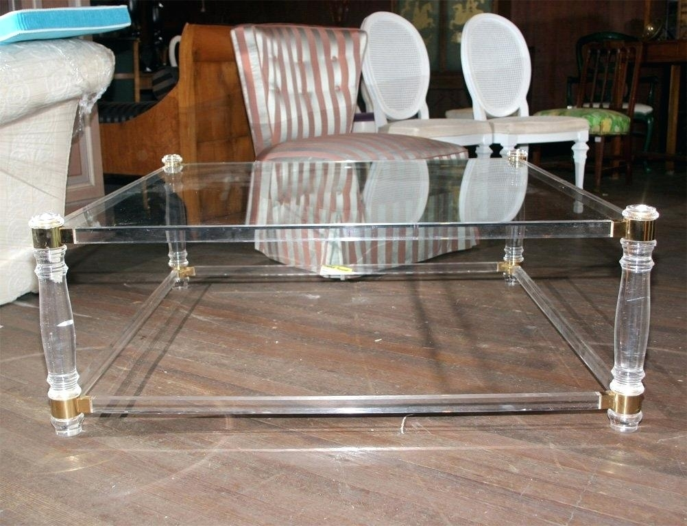 Alluring Coffee Table At Disappearing Wisteria Acrylic Clear Lucite For Disappearing Coffee Tables (View 15 of 40)