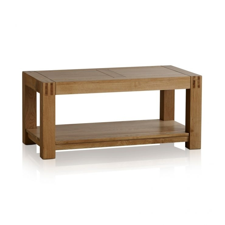 Alto Natural Solid Oak Coffee Table | Living Room Furniture In Natural 2 Drawer Shutter Coffee Tables (Image 2 of 40)
