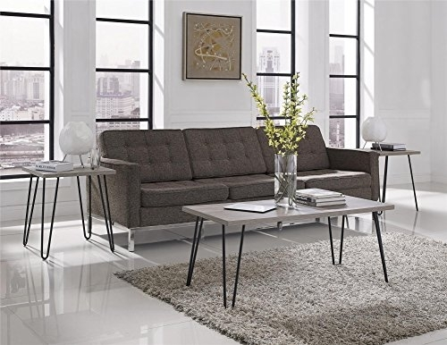 Altra Furniture Owen Retro Coffee Table With Metal Legs, Sonoma Oak Within Gunmetal Coffee Tables (View 23 of 40)