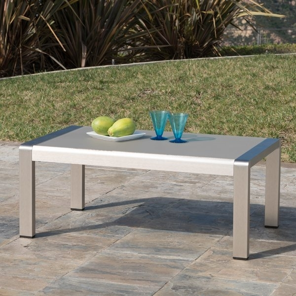 Aluminum Coffee Table | Wayfair For Stately Acrylic Coffee Tables (View 35 of 40)