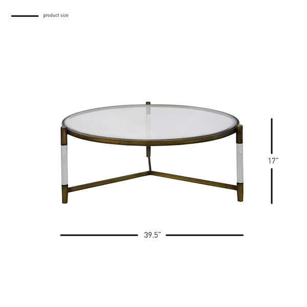 Amaris Acrylic Coffee Table Glass Top, Transparent/brushed Brass With Regard To Acrylic & Brushed Brass Coffee Tables (Image 10 of 40)