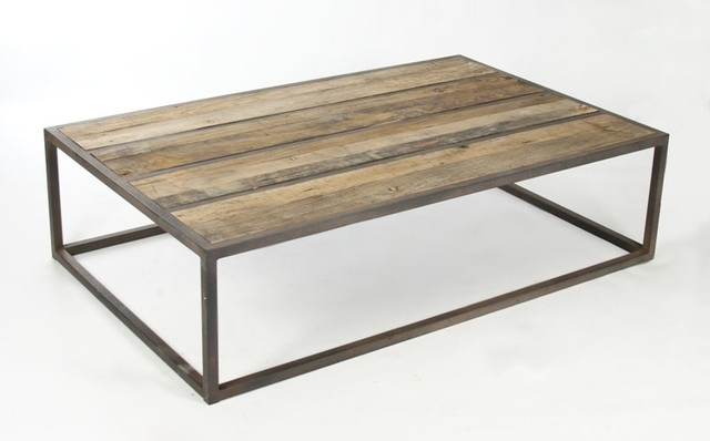 Amazing Metal Wood Coffee Table West Elm, Wood And Metal Coffee Table With Reclaimed Elm Iron Coffee Tables (View 15 of 40)