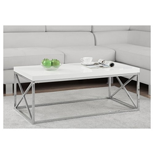 Amazing White Marble Coffee Table Throughout Amazon Com Intended For Modern Marble Iron Coffee Tables (Image 1 of 40)