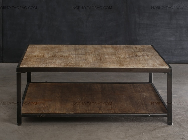 American Country To Do The Old Wrought Iron Wood Coffee Table Living Within Vintage Wood Coffee Tables (Image 2 of 40)