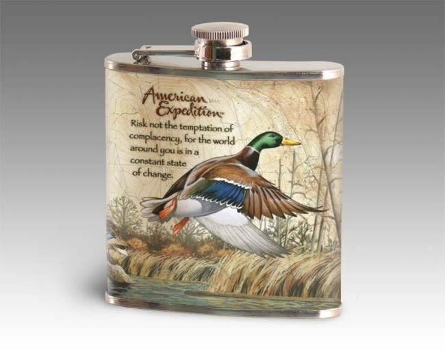 American Expedition Mallard Duck Steel Flask Intended For Mallard Cocktail Tables (View 17 of 40)