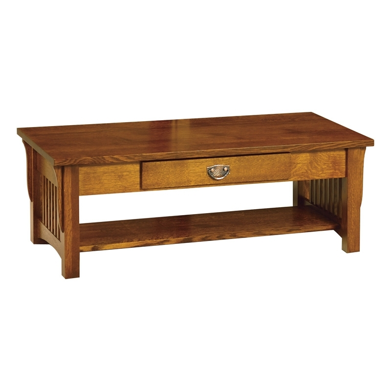 Amish Coffee Tables Furniture, Amish Coffee Tabless, Amish Furniture For Walnut Finish 6 Drawer Coffee Tables (Image 5 of 40)