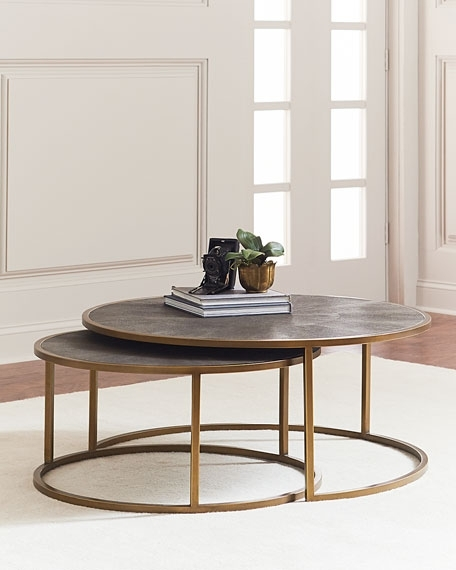 Amusing Nested Coffee Table Of Ginny Nesting Tables Neiman Marcus In Set Of Nesting Coffee Tables (View 34 of 40)