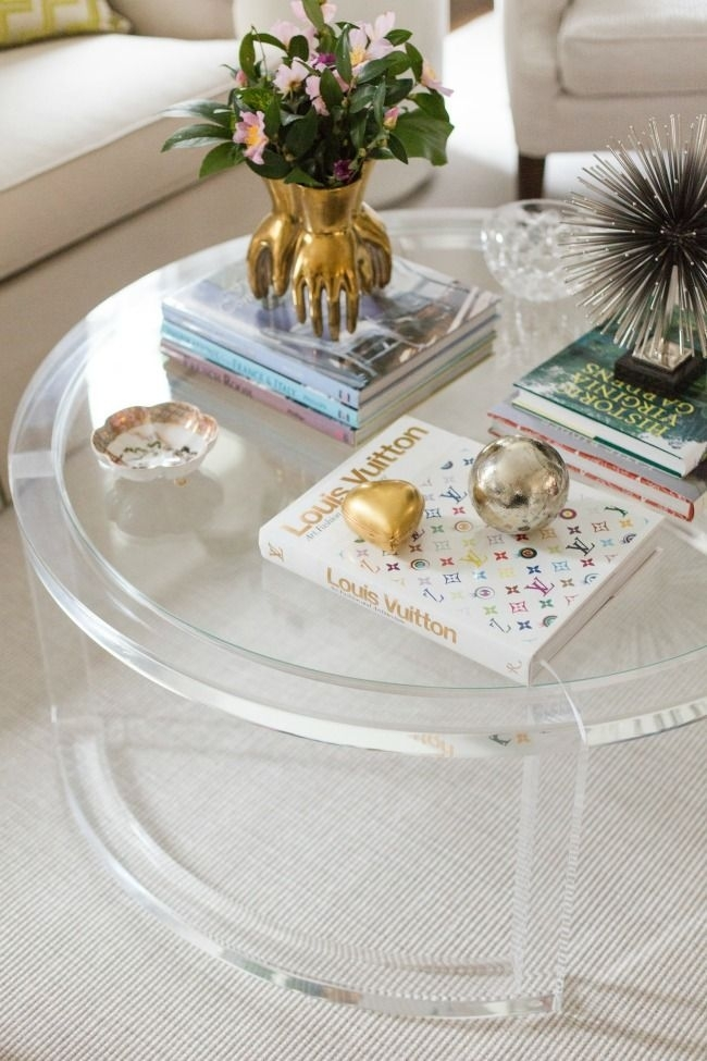 Angela Elliott Home Tour | Beautiful Home Interiors | Pinterest With Regard To Modern Acrylic Coffee Tables (Image 5 of 40)