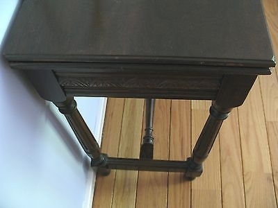 Antique Folding Top Side Table With Hidden Storage (View 32 of 40)
