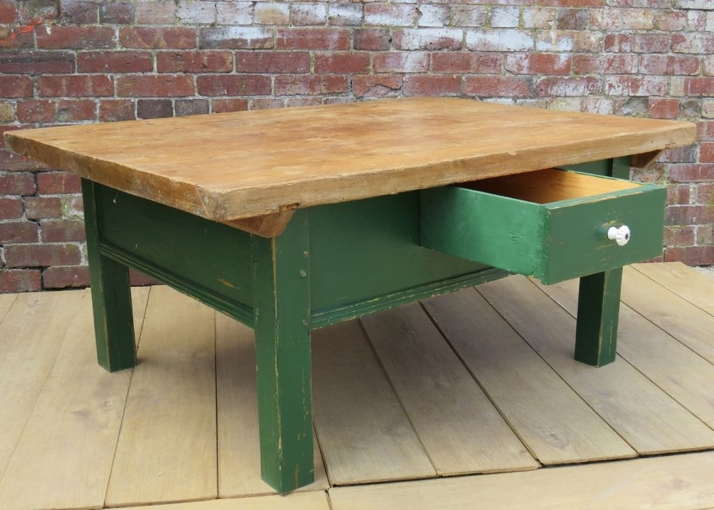 Antique French Pine Coffee Table For Sale At Pamono With Antique Pine Coffee Tables (Image 2 of 40)