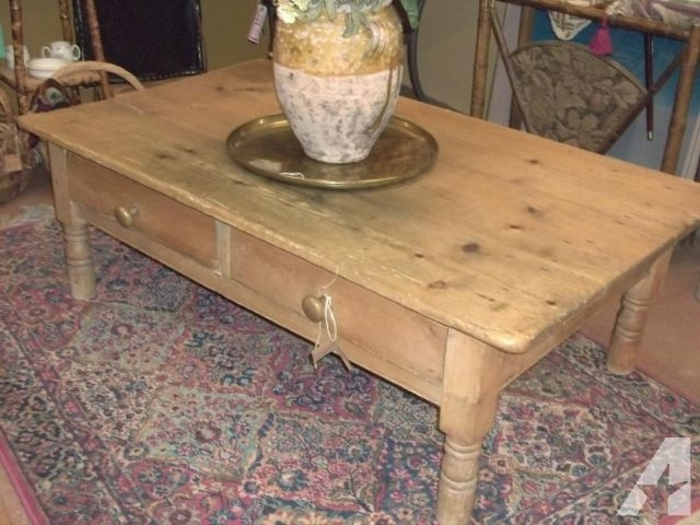 Antique Pine Coffee Table – Image Antique And Candle Victimassist Intended For Antique Pine Coffee Tables (Image 4 of 40)
