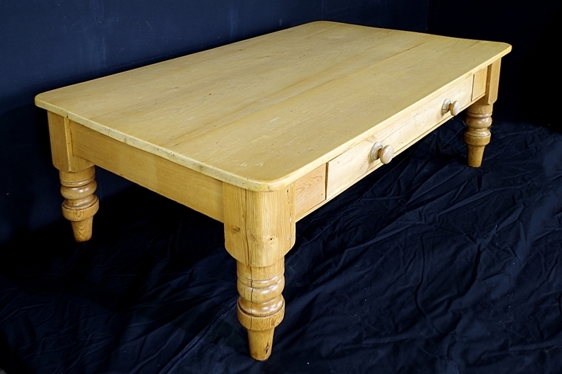 Antique Pine Farmhouse Coffee Table Painted Vintage, Antique Regarding Antique Pine Coffee Tables (Image 14 of 40)