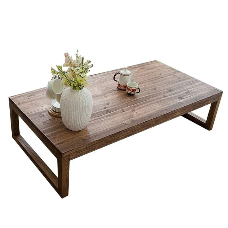 Antique Rustic Vintage Pine Coffee Center Table Wooden Living Room Throughout Antique Pine Coffee Tables (Image 19 of 40)