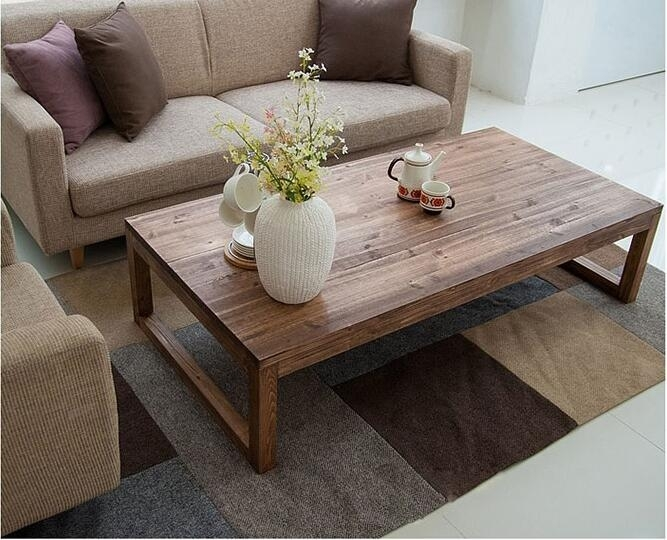 Antique Rustic Vintage Pine Coffee Center Table Wooden Living Room With Regard To Antique Pine Coffee Tables (Image 20 of 40)
