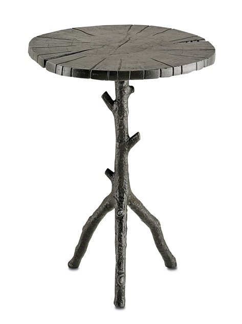 Antiqued Black Faux Bois Side Table – The Designer Insider Regarding Faux Bois Coffee Tables (View 29 of 40)