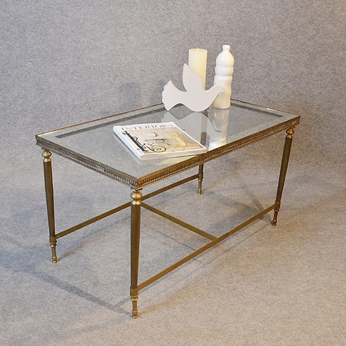 Antiques Atlas – Coffee Table Art Deco Brass Glass Top With Antique Brass Coffee Tables (Image 4 of 40)